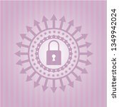 closed lock icon inside pink... | Shutterstock .eps vector #1349942024