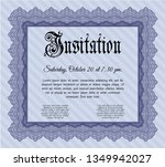 blue retro vintage invitation.... | Shutterstock .eps vector #1349942027