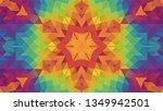 geometric design  mosaic of a... | Shutterstock .eps vector #1349942501