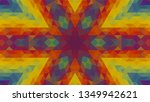 geometric design  mosaic of a... | Shutterstock .eps vector #1349942621