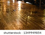 barcelona wet flower paving in... | Shutterstock . vector #1349949854