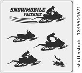 snowmobile emblems  labels ... | Shutterstock .eps vector #1349954621