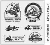 snowmobile emblems  labels ... | Shutterstock .eps vector #1349954624