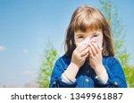 seasonal allergy in a child.... | Shutterstock . vector #1349961887