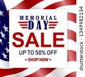 memorial day sale background... | Shutterstock .eps vector #1349982134