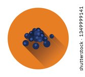 flat design icon of blueberry...