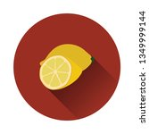 flat design icon of lemon in ui ...