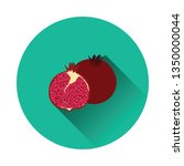 flat design icon of pomegranate ...