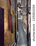 Narrow Staircase In The Old...