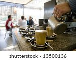 coffee being made at cafe with... | Shutterstock . vector #13500136