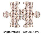 many people as an international ... | Shutterstock . vector #1350014591