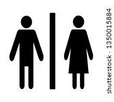 washroom lady gentleman sign... | Shutterstock .eps vector #1350015884