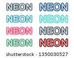 neon script hand drawn alphabet ... | Shutterstock .eps vector #1350030527