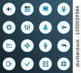 user icons colored set with... | Shutterstock .eps vector #1350039584
