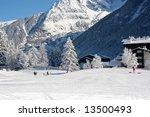 Ski Slope At The Winter...