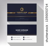 business model name card luxury ... | Shutterstock .eps vector #1350053714