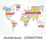 education word cloud in shape... | Shutterstock .eps vector #1350057944