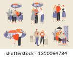 set of vector illustrations of...   Shutterstock .eps vector #1350064784