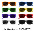 coloured sunglasses   orange ... | Shutterstock . vector #135007751