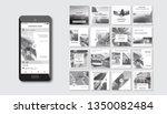 set of modern trendy covers... | Shutterstock .eps vector #1350082484