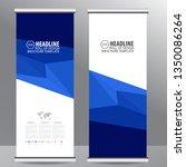 roll up business brochure flyer ... | Shutterstock .eps vector #1350086264