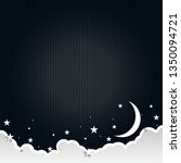moon and stars in midnight ... | Shutterstock .eps vector #1350094721