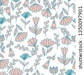 seamless vector floral pattern... | Shutterstock .eps vector #1350097901