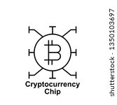 bitcoin chip outline icon....