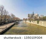 paris  france   march 22  2019  ...   Shutterstock . vector #1350109304