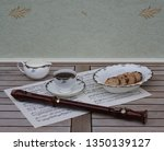 english teacup with saucer ... | Shutterstock . vector #1350139127