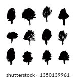 paint drawing set of black... | Shutterstock .eps vector #1350139961