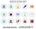 disco icon set. 15 flat disco... | Shutterstock .eps vector #1350145877