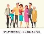 big family taking flat vector... | Shutterstock .eps vector #1350153701