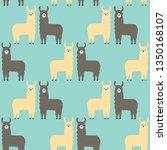seamless pattern lamas. trendy... | Shutterstock .eps vector #1350168107