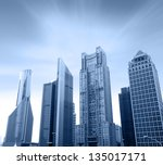 the modern building of the... | Shutterstock . vector #135017171