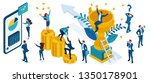 set of business concepts on the ... | Shutterstock .eps vector #1350178901