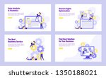 set of flat design web page... | Shutterstock .eps vector #1350188021
