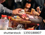 food donation to help people in ... | Shutterstock . vector #1350188807