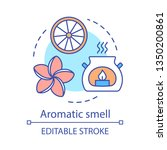 aromatic smell concept icon....   Shutterstock .eps vector #1350200861