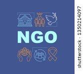 ngo word concepts banner. non...