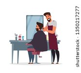 barber shop  hairdressing room... | Shutterstock .eps vector #1350217277