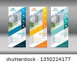 business roll up. standee...   Shutterstock .eps vector #1350224177