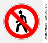 international traffic sign... | Shutterstock . vector #1350230177