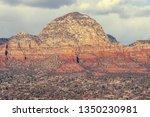 sedona mountain peak on an... | Shutterstock . vector #1350230981