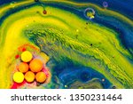 liquid colorful paint... | Shutterstock . vector #1350231464