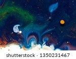 liquid colorful paint... | Shutterstock . vector #1350231467