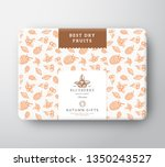 dried fruits berries cardboard... | Shutterstock .eps vector #1350243527