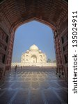 taj mahal as see from adjecent... | Shutterstock . vector #135024911
