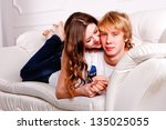 sexy couple on white background | Shutterstock . vector #135025055