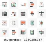 flat line icons set of media... | Shutterstock .eps vector #1350256367